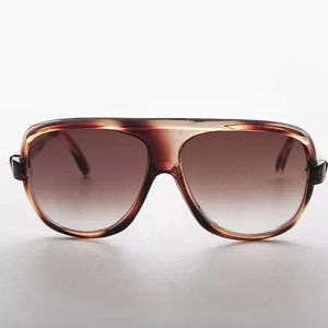 NEW Brown Aviator Sunglass Flat Top Baron SUNNIES